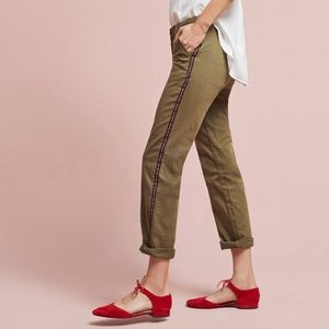 Anthropologie | Relaxed Fit Side Stripe Chinos